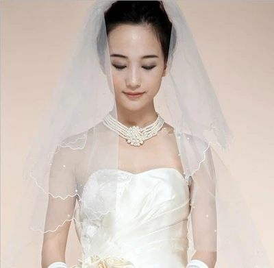 蕾絲新款婚紗頭紗超長150-300cm結婚韓式婚禮長款軟頭紗-108792002315