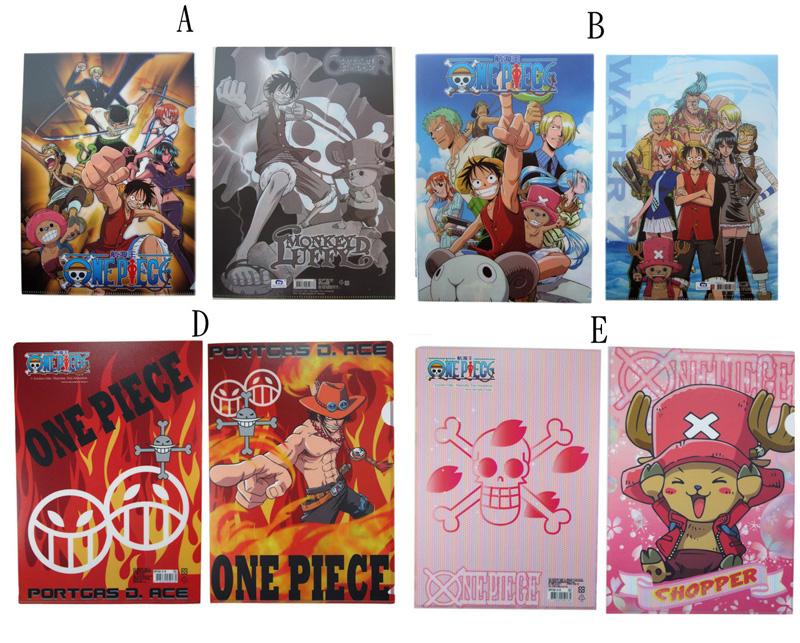 卡漫城海賊王L型文件夾4個一組版資料夾Luffy魯夫娜美喬巴航海王One Piece