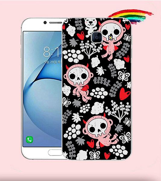 俏魔女美人館可愛骷髏-硬殼Samsung Galaxy A8手機殼保護套保護殼保護套