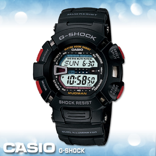 CASIO手錶專賣店卡西歐G-SHOCK G-9000-1V電子錶MUDMAN泥人系列防塵防泥設計