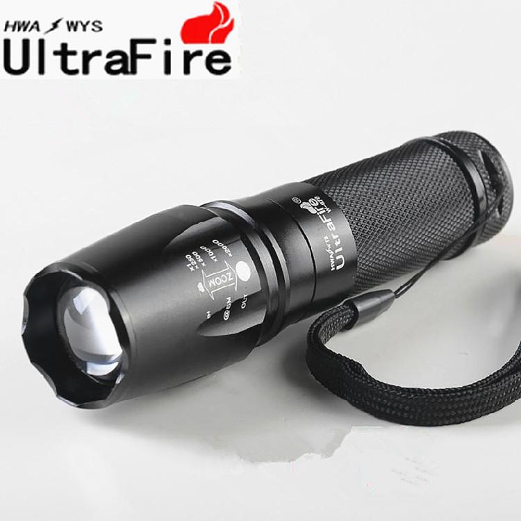 超強遠射王XML-T6 LED強光手電筒爆亮伸縮變焦手電筒大型魚眼燈頭光學凸透鏡花赤Run
