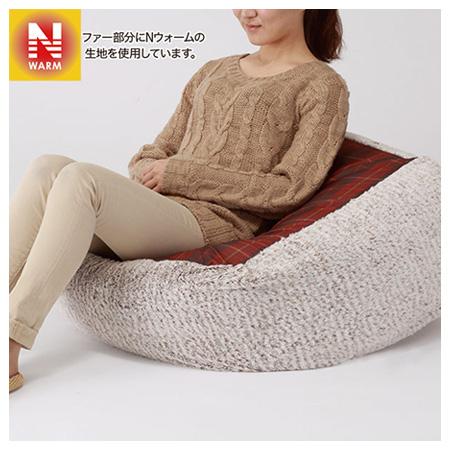 吸濕發熱 小型懶骨頭沙發專用布套 N WARM 16 高35cm(本體另售) NITORI宜得利家居