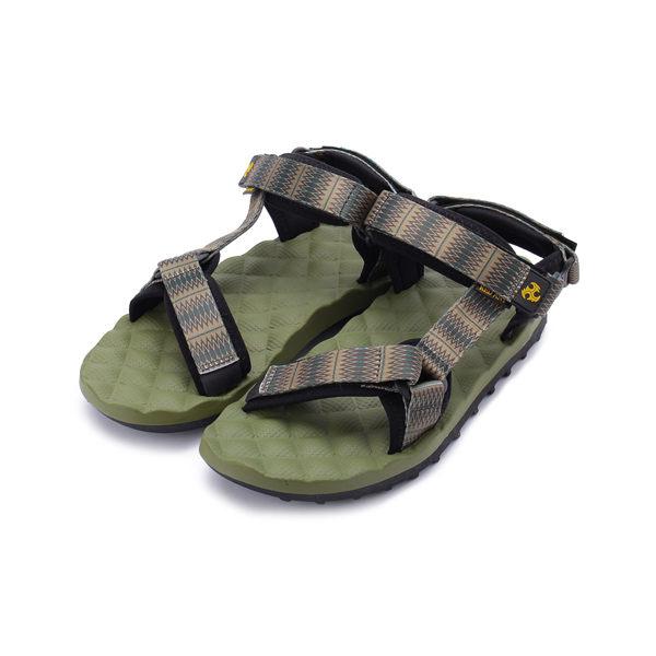 RED ANT 圖騰織帶彈力涼鞋 綠 男鞋 鞋全家福