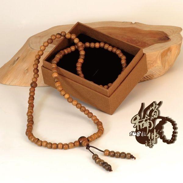 肖楠108粒佛珠(6mm)|又稱念珠,選用木質肖楠手珠串製成,用以消除煩惱障和報障