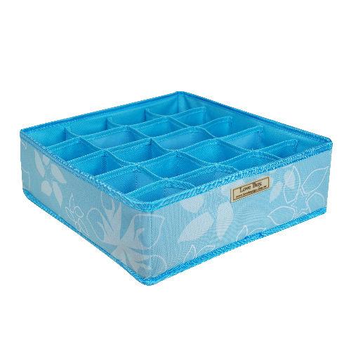 全新NG商品★居家衣物收納無蓋式(藍)20格