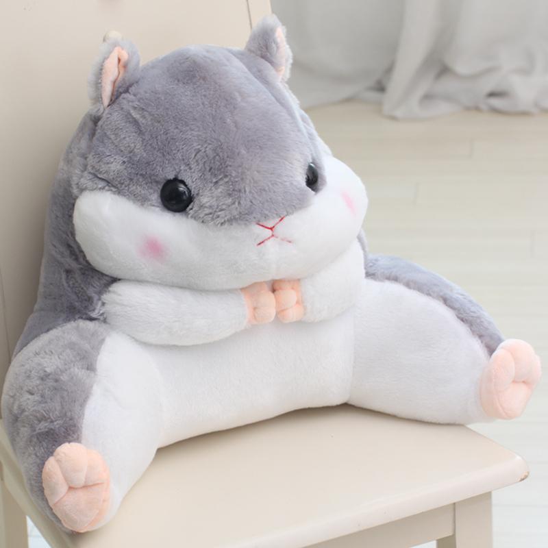 可愛倉鼠抱枕辦公室腰靠椅子護腰枕大號靠墊龍貓汽車抱枕靠枕靠背【維尼】
