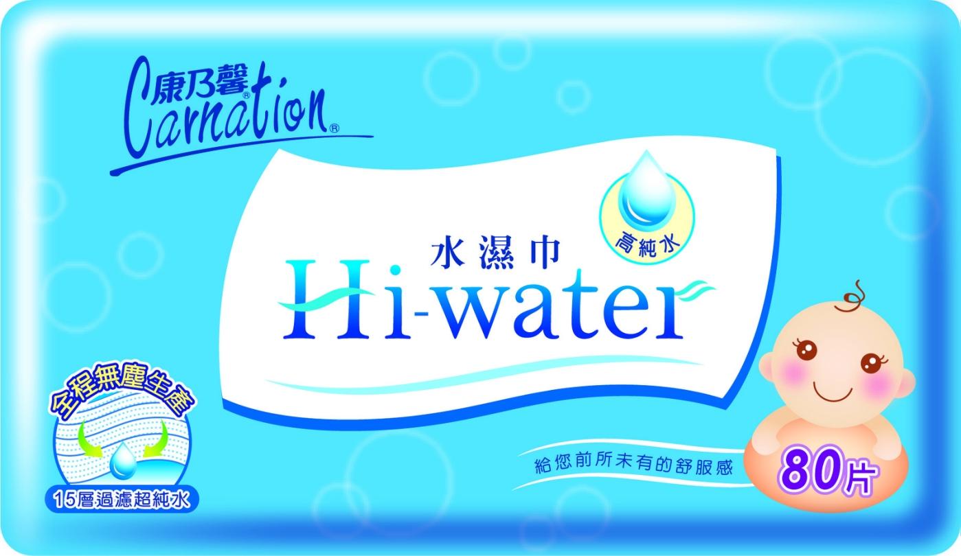 【醫博士】康乃馨Hi-water水濕巾80抽x12包/箱