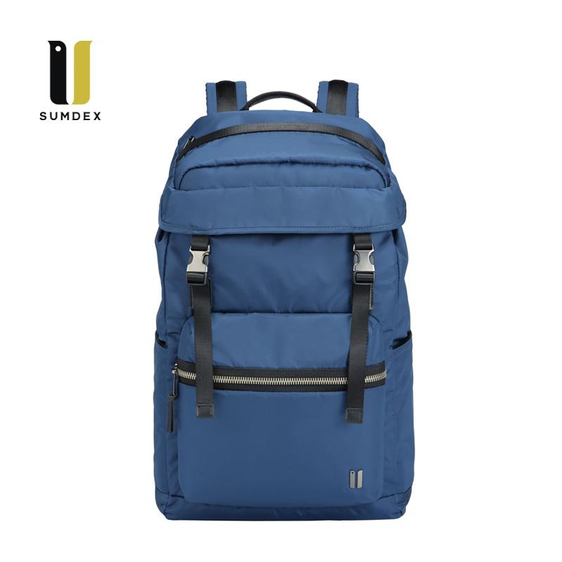SUMDEX 15.6吋10吋平板輕旅潮流後背包NON-794BU藍色