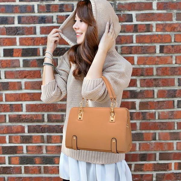 2014款日韓流行斜背包手提包箱型包-4色單售