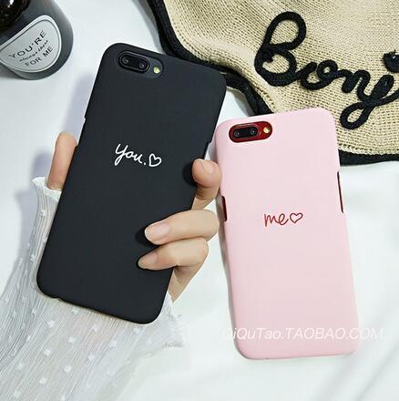 【SZ15】OPPO A77手機殼 個性簡約字母愛心 磨砂半包硬殼 A59手機殼 A57/A39手機殼