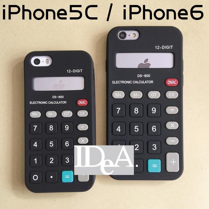 IDEA iPhone6 5C casio卡西歐經典黑色計算機造型矽膠保護套手機軟殼非TPU日本創意復古懷舊