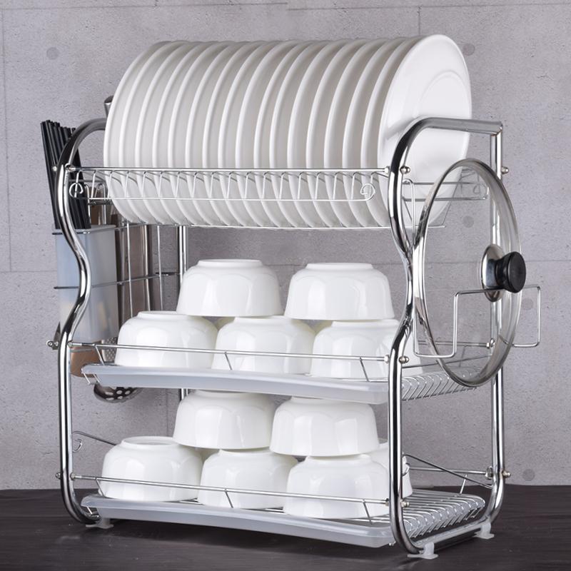 加厚特大塑料碗櫃帶蓋碗碟帶廚房瀝水碗架餐具碗筷收納盒翻蓋廚房