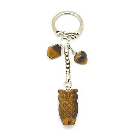 虎眼貓頭鷹鑰匙圈
