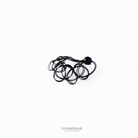 戒指 日系刺青紋身魚線戒指 柒彩年代【NC195】