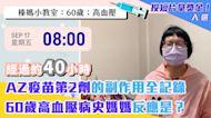AZ疫苗第2劑的副作用全記錄 60歲高血壓病史媽媽反應是?