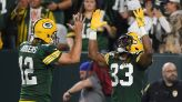 Packers' Aaron Jones loses chain containing father's ashes at Lambeau Field during 4-touchdown performance