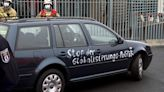 Car hits gate outside German leader's offices; minor damage