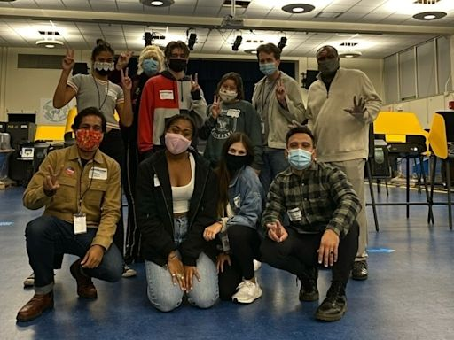 Santa Monica High School Students Work At Vote Centers