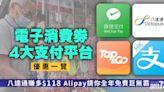 電子消費券|4大平台獨家優惠一覽 八達通賺多$118 Alipay送全年麥當勞巨無霸餐 - 玩樂 - am730