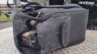 廢棄行李箱冒濃煙 清潔員緊急撲滅