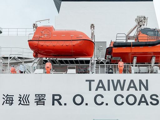 台灣海巡艦艇塗裝新增「TAIWAN」 蔡英文:展現決心捍衞藍色國土