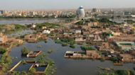 Aerial video shows Sudan capital swamped by record flooding