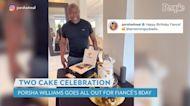 Porsha Williams Celebrates Fiancé Simon Guobadia's 57th Birthday with 2 Extravagant Cakes