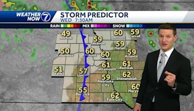 Cold front bringing a cool down Wednesday