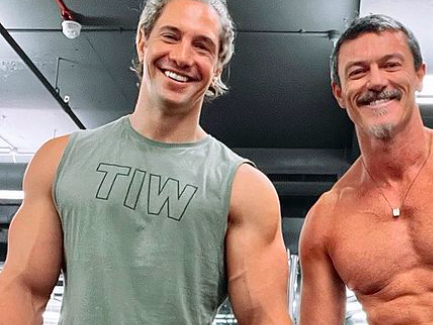 Luke Evans Posted a Shirtless Thirst Trap From His Newly Reopened Gym