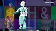 D&G mixes models with robots in Milan Fashion Week finale