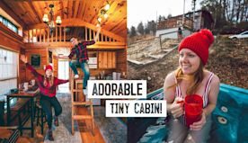 Tour of Our Winter TINY HOME Cabin! + Trying Local Fast Food (Boone, NC)