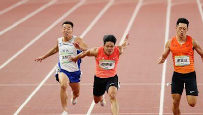 9秒95破賽會紀錄!蘇炳添全運會男子百米首奪金