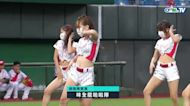 09/03 統一 VS 味全 賽前,Go Beauties小龍女帶來精彩的開場熱舞表演