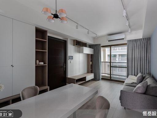 新成屋裝潢最佳示範!收納機能滿載卻不擁擠,搭配乳膠漆替住宅增添一抹天藍