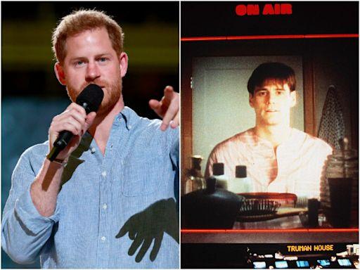 Prince Harry compares royal life to Jim Carrey film The Truman Show