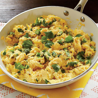 Soft-Scrambled Eggs with Asparagus - Sunny Day Brunch - Cooking Light