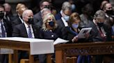 Biden calls on US to 'come together as one nation' during remarks at Republican senator's funeral