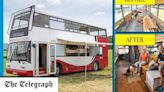 'We ditched our house for a double-decker bus we found on eBay'