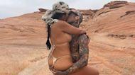 Kourtney Kardashian and Travis Barker Pack on the PDA During Desert Escape