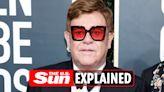 Why did Elton John postpone his farewell tour dates?