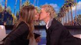 Jennifer Aniston kisses Ellen DeGeneres, says 'Friends' cast is 'working on something'
