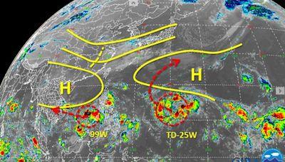 未來一週恐有雙颱!瑪瑙、妮亞圖有望接連生成 路徑預測一次看