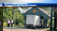 Long Grove covered bridge struck for 15th time since repairs
