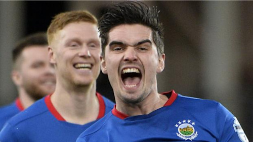 Irish Premiership: Commanding Linfield ease past Crusaders to extend lead at top to nine points