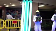 Exterminate! Robot blasts mall with UV light to fight virus