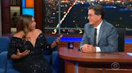 Mindy Kaling apologizes to Stephen Colbert for bra she was wearing when he walked in on her changing