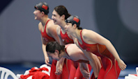 China wins Olympic gold in women's 4x200m freestyle relay, sets world record