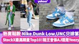 波鞋排行榜|Nike Dunk Low UNC都只排第4!StockX最高銷量Top10鞋王會係AJ還是Yeezy?