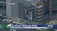 Philadelphia Eagles Remove Carson Wentz Banner Outside Lincoln Financial Field