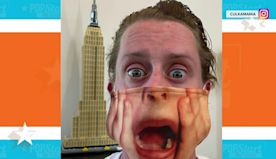 Macaulay Culkin's new 'Home Alone' mask is a real scream